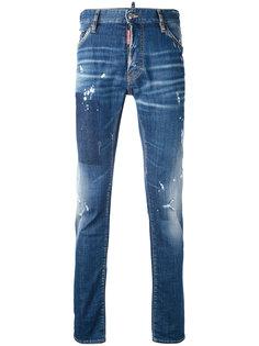 узкие джинсы с протертостями Dsquared2