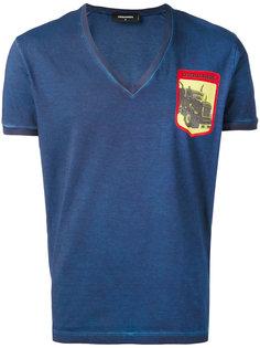 футболка с принтом на груди Dsquared2