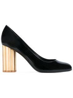 туфли на контрастной каблуке Salvatore Ferragamo