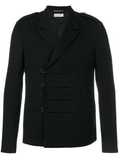 укороченное пальто в стиле милитари Saint Laurent