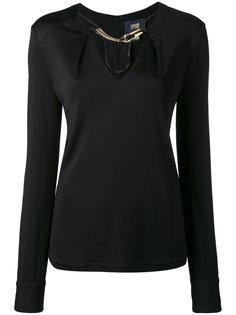 блузка с отделкой в виде змеи Cavalli Class