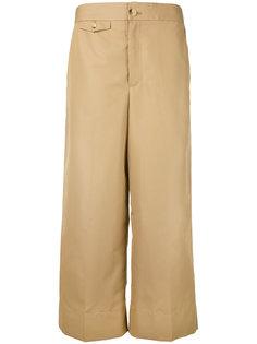 укороченные широкие брюки Helmut Lang