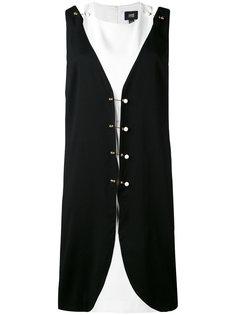 двухслойное платье с отделкой в форме булавок Cavalli Class