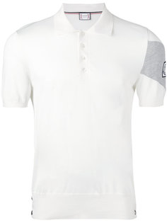 рубашка-поло с шевроном на рукаве Moncler Gamme Bleu