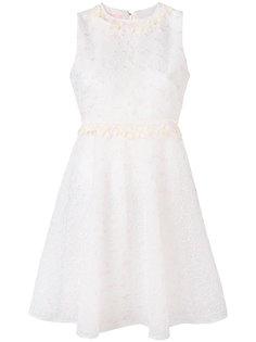 платье с цветочной вышивкой Giamba