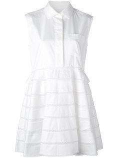 платье-рубашка с оборками Carven