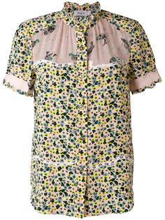 рубашка с короткими рукавами и цветочным принтом Coach