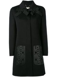 пальто с декоративными вырезами лазером Fendi