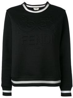толстовка с тисненым логотипом Fendi