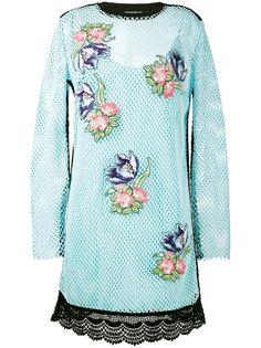 сетчатое платье с цветочным декором House Of Holland