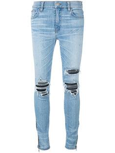 джинсы скинни с потертой отделкой Amiri
