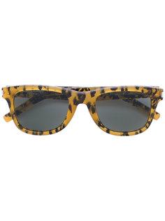 солнцезащитные очки с леопардовым принтом Saint Laurent Eyewear