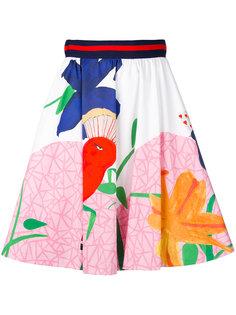 плиссированная юбка с завышенной талией Alice+Olivia