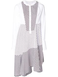 полосатое платье с асимметричным подолом Carven