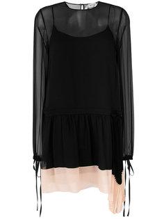 многослойное платье с прозрачными вставками Nº21