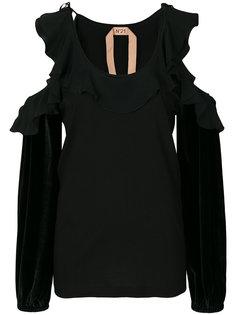 блузка с вырезами на плечах Nº21