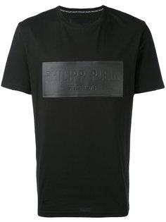 футболка с тисненой вставкой Philipp Plein