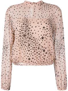 полупрозрачная блузка с принтом звезд Red Valentino