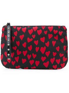 клатч с принтом сердец Red Valentino