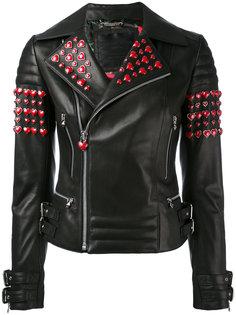 байкерская куртка с заклепками-сердцами Philipp Plein