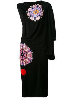 асимметричное платье с драпировкой Givenchy
