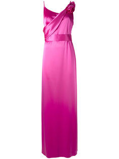 платье в пол с цветочной аппликацией Lanvin
