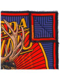 шарф с изображением лося Dsquared2