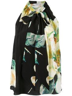 блузка с принтом роз Lanvin