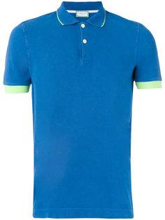 футболка-поло с контрастной отделкой Capricode