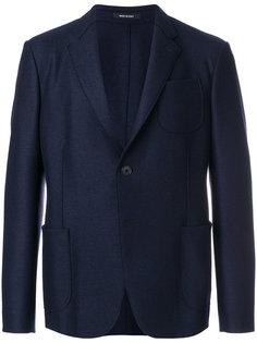 блейзер с накладными карманами Giorgio Armani