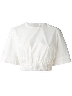 укороченная футболка с эластичным подолом Solace London