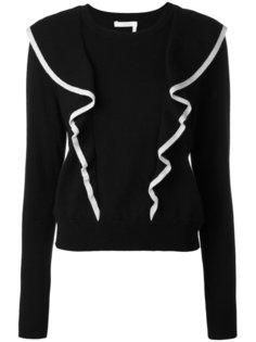 свитер с контрастной оторочкой Chloé