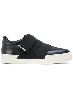 кроссовки с ремешками Emporio Armani