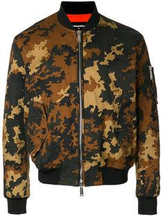 куртка-бомбер с камуфляжным узором Dsquared2