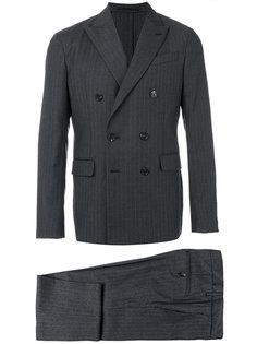 костюм с двубортным пиджаком в тонкую полоску Dsquared2