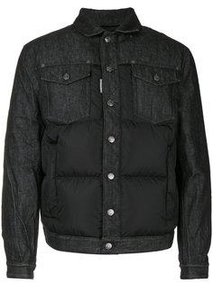 дутая куртка со вставками из денима Dsquared2