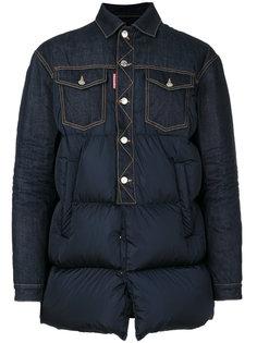 куртка с джинсовыми панелями Dsquared2