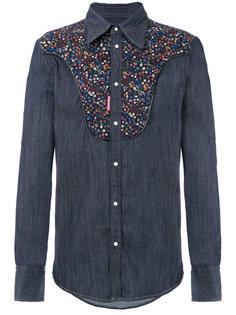 джинсовая рубашка со вставкой в стиле вестерн Dsquared2