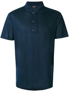 рубашка-поло с вышивкой логотипа Emporio Armani