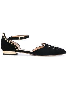 туфли Kitty на низком каблуке Charlotte Olympia