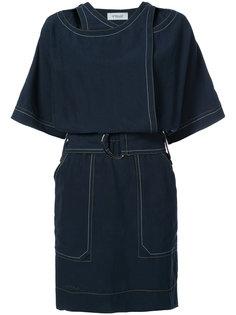 платье мини с укороченными рукавами  Derek Lam 10 Crosby