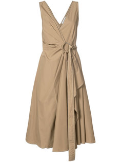 платье с запахом на одну сторону Derek Lam 10 Crosby