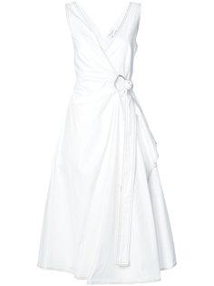 платье миди с драпировкой Derek Lam 10 Crosby