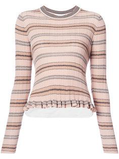 свитер в полоску Derek Lam 10 Crosby