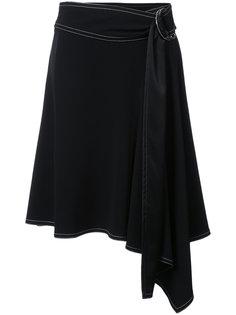 асимметричная юбка с запахом Derek Lam 10 Crosby