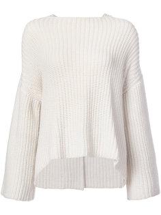 трикотажный свитер с открытыми плечами Derek Lam 10 Crosby