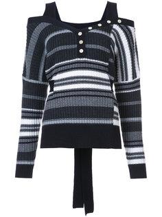 трикотажный свитер в полоску Derek Lam 10 Crosby
