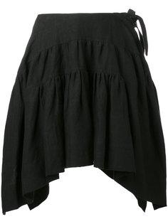 юбка в складку с закругленным подолом JW Anderson