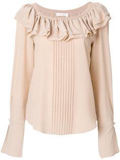 блузка с оборкой  Chloé