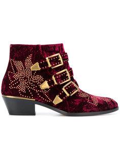 бархатные ботинки Susanna Chloé